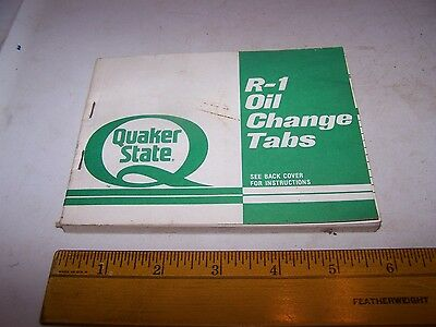 Quaker State Oil Change Tab Book HURT MOTOR CO Cordele Georgia 30 pages