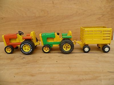 Vintage Old Tonka Toys 'tractors And Trailer' Old Tonka Toys Lot (C651)
