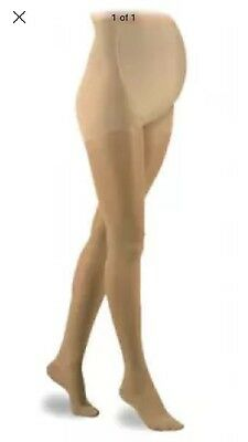 Be Maternity Women's Sheer Hosiery Panty Hose Nude Size Medium New Over Belly