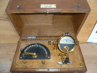 Antique Old Brass & Timber Electronic Therapy Madical, Science Machine (A283)