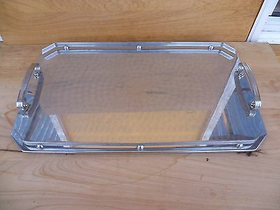 Vintage Old Retro Chromed Serving, Drinks Tray (A299)