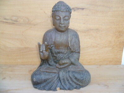 Vintage Old Timber Large Size Buddha Statue, Figure 'small Chip' (A278)