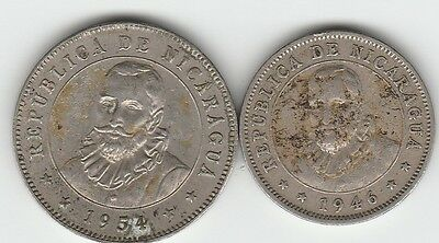 2 coins from Nicaragua
