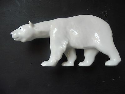 "Royal Copenhagen Polar Bear #320 (Approximately 7"" long and 3.5"" tall)"