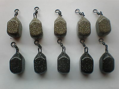 10x 2.5oz mixed dice carp lead weights