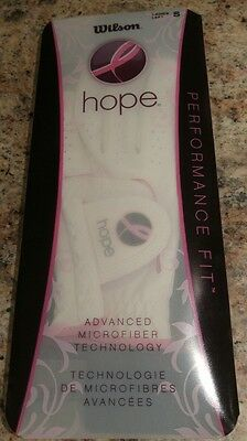 NEW! Wilson Hope Ladies Golf Glove. Left Small. Breast Cancer Ribbon. Women's.