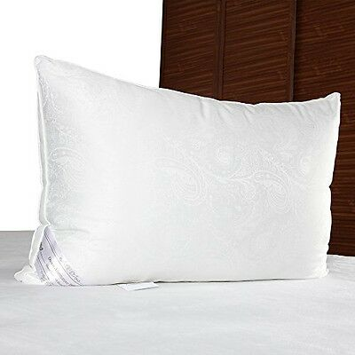 DUCK and GOOSE Luxuriously Plush Silk Bedding Pillow, Finest Royal Quality, and