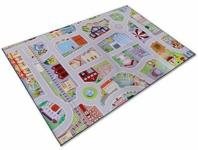 Casa Pura® Childrens Play Carpet, Road Mat - My Town | 2 Sizes Available (100