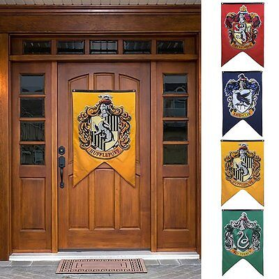 Harry Potter House Wall Banners Gryffindor Flag Hufflepuff Slytherin Home Decor
