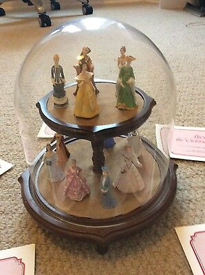 The Ladies of Fashion porcelain miniature collection 12 ladies books display