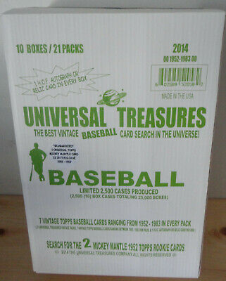2017 Box Find 120 Unopened 1952 Topps High Series Wax Packs Gem Mickey Mantle ?