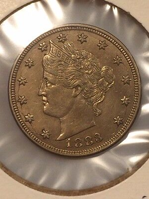 "1883 Liberty Head ""v"" Nickel No Cents **brilliant Uncirculated**"