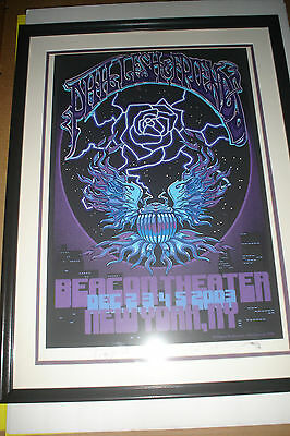 Phil Lesh Poster Beacon Theatre December 2003 Signed Framed Grateful Dead