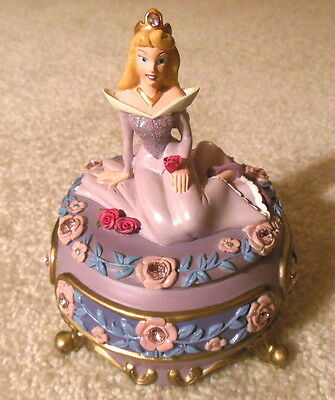Disney Store Sleeping Beauty - Princess Aurora - Jewelry Trinket Box Figurine