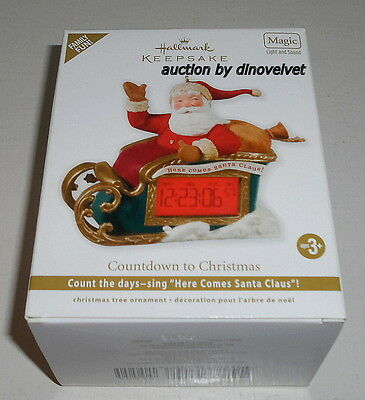 Countdown To Christmas Hallmark Keepsake Ornament Magic Light Sound 2012 New