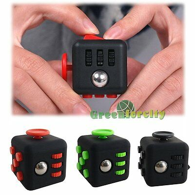 Magic 6-Side Novelty Fidget Cube Anti-anxiety Adults Stress Relief Toy Kids Gift