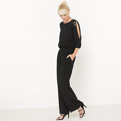 R Edition Womens Jumpsuit With Lace Details