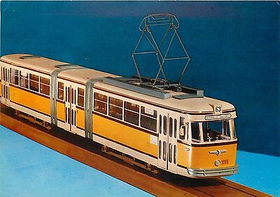 Pivoted tram postcard scale model Budapest Electric Tramways of the Capital
