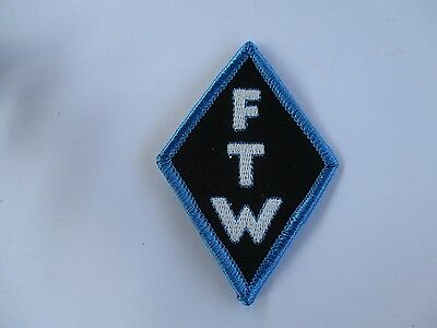 FTW Diamond Shaped Patch Sew/iron on - Mens shed lady rider biker