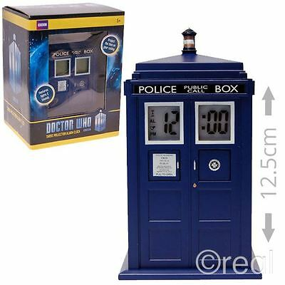 New Doctor Who TARDIS Projection Alarm Clock Electronic SFX Bedroom Official
