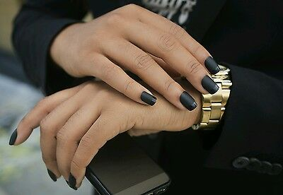 Noir by Makellos; French Manicure Matte press on nails