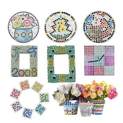 200g 20*20mm Vitreous Glass Mosaic Tiles Arts DIY Crafts Kids Toys