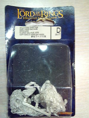 Games Workshop LORD OF THE RINGS WILD WARG CHIEFTAIN/ HUARGO SALVAJE JEFE METAL