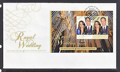 2011 Fdc  Royal Wedding Sheetlet