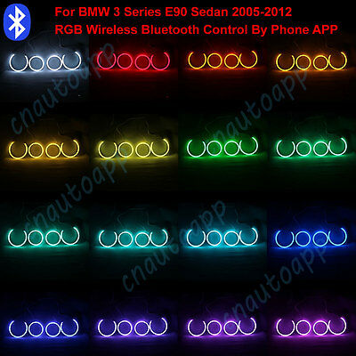 Angel Eyes Cotton LED Bluetooth Wireless RGB Controller Kit For BMW 3 Series E90