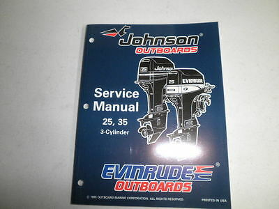 johnson evinrude outboard motor factory service manual 1996 25 35 3 cylinder