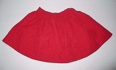 """Girls Janie And Jack """"my Valentine"""" Red Lined Skirt Size 3"""