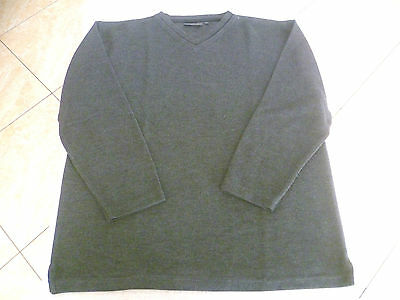 Pull gris col V manches longues Taille L TBE