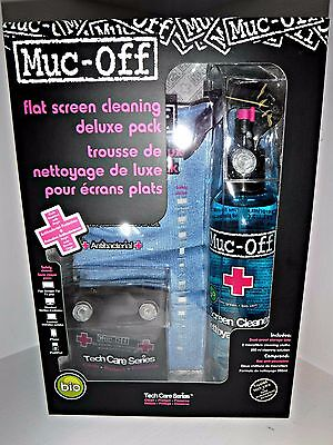 Muc-Off 250ml Deluxe TV Tablet Phone Laptop 2 cloth Cleaning Kit & FREE GIFT