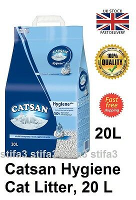 Cat Hygiene Litter Toilet Catsan 4 5 x 3 20 40 l Litre UK STOCK FAST DELIVERY