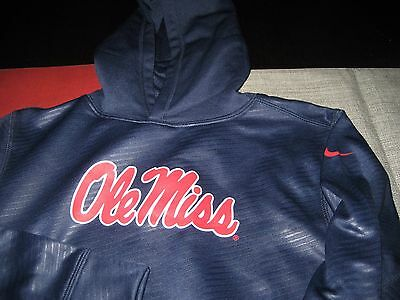 Boys/Girls Youth Nike Therma Fit Ole Miss Rebels Hoodie Size M Medium Blue Nwt