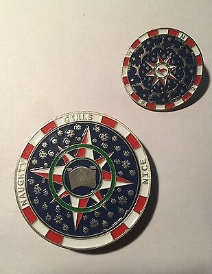 Santa Compass Spinning Geocoin with matching Pin - *UNACTIVATED*