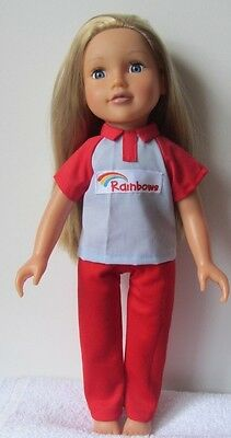 Doll's Clothes  RAINBOWS UNIFORM/outfit  to fit DESIGNAFRIEND DOLL