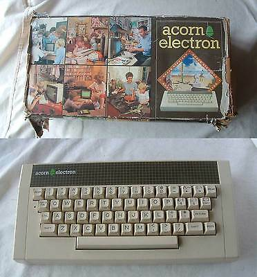 Vintage ACORN ELECTRON 32K PERSONAL MICRO COMPUTER 1983 BOXED + WORKING VGC BBC