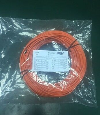LC-LC 62.5/125 Duplex Multimode (OM1) Fibre Lead Orange LC-LC 20m RoHS
