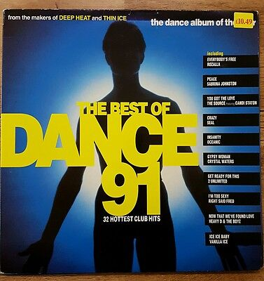 Best of Dance 91 Vinyl Record RARE! Prodigy Rozalla Seal 808 State