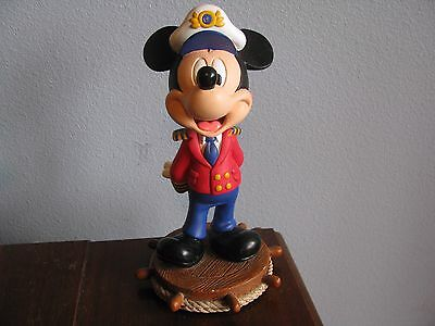 Genuine DCL Walt Disney Cruise Line Captain Mickey Mouse Bobble Head