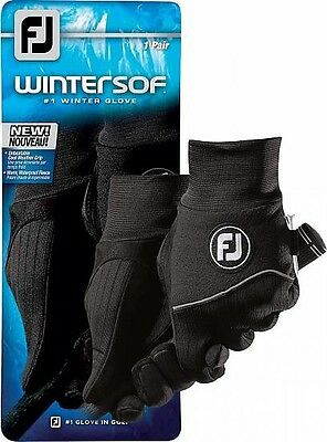 Footjoy Golf Wintersof Gloves Pair Mens Black Clearance 66965E Large