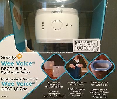 Safety 1st WEE VOICE DECT 1.9 Ghz Digital Audio Monitor - NEW