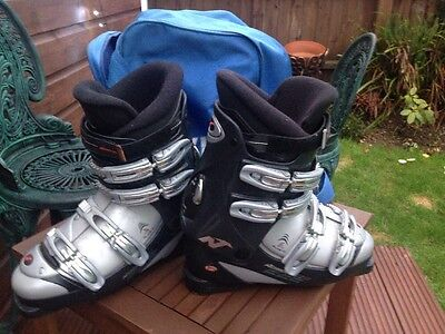 Quality Nordica FX 6.5 Ski Boots size Mondo 28.5 UK 9.5 Ex Con + Bag