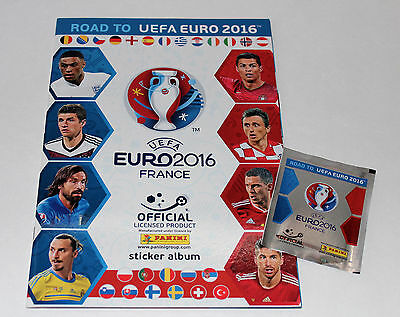 Panini ROAD TO UEFA EURO 2016 France STICKER – LEERALBUM EMPTY ALBUM vuoto RARE!