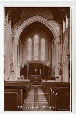 Radnorshire: St. Edwards Church, Knighton - Interior - Yates RP PC (1406)