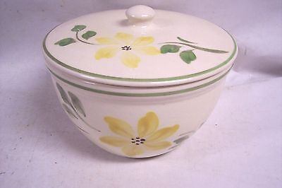 Vintage Hull Pottery Usa Covered Casserole Dish Yellow Green Flowers Oven Serve