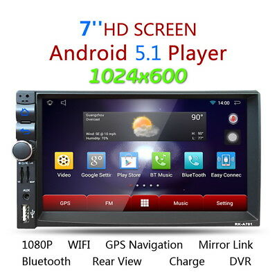 "7"" Universal HD Android 4.4 Coche Estéreo MP3 Reproductor 2Din GPS BT 3G WIFI FM"