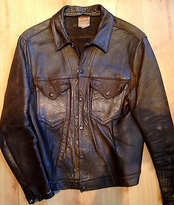Levi's Big E 1950's Shorthorn Vintage Leather Western Ranch Jacket 40