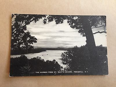 The Hudson From St Mary's School Peekskill New York Postcard Usa